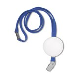 Lanyard with soft PU foam -Available in: Black-Blue