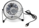 USB metal desk fan.  - Available in: Silver