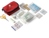 First aid kit in a nylon pouch, includes two 50 x 75mm non-adher