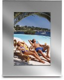 "Oblong shaped aluminium photo frame with a 10cm x 15cm (4"" x 6"")"