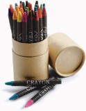 Thirty piece crayon set in card container, certification to EN71