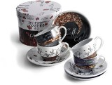 Set of four specially designed 80ml porcelain cappuccino cups an