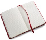 Luxury note book with a soft PU cover, 96 lined pages, ribbon ma