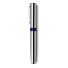 Saltzburg stainless steel ballpen with a translucent coloured pl