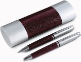 Sienna metal pen set, consisting of a ballpen and rollerball wit