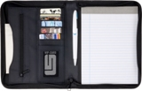 A5 Zipped PVC folder with two large internal pockets, six small