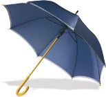 Automatic opening umbrella with a wooden shaft and eight 190t po