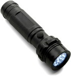 Plastic push button torch with fourteen LED lights. - Available