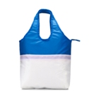 210D polyester shopping cooler bag with long integrated handles,