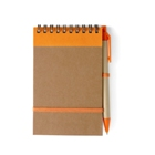 Wire bound recycled note book with seventy lined pages, a retrac