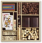 Combination seven games set in a wooden case certified to EN71 i