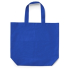 Carrying bag in a non-woven material with gusset.
