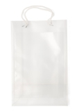 A4 size polypropylene promotional/exhibition bag with two white