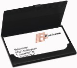 Metal business card holder, holds up to approx ten cards. - Avai