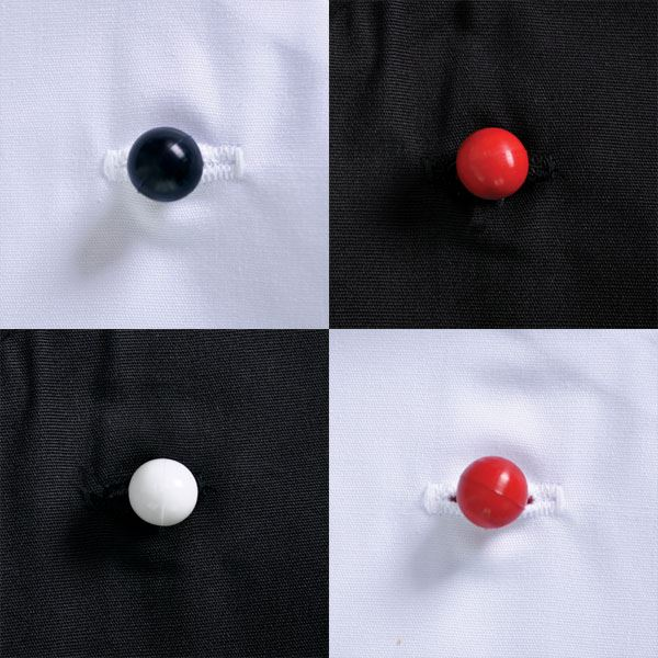 Chef Buttons - Min 250 units - Avail in: Black, red, white