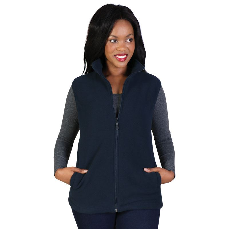 Belle Fleece - Sleeveless - Avail in: Black, Navy