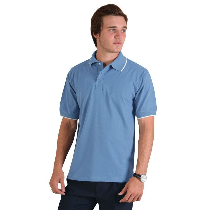 Pencil Stripe Golfer - Avail in: Newport Blue/White, Navy/White,