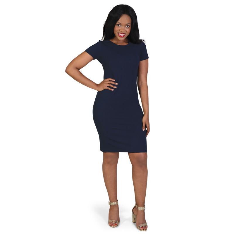 Claire Dress - Avail in: Black, Navy, Charcoal