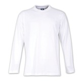 170g Combed Cotton Crew-neck Long-sleeve T-shirts - Avail in: Wh