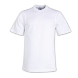 190g Super Cotton Crew-neck T-shirts - Avail in: White