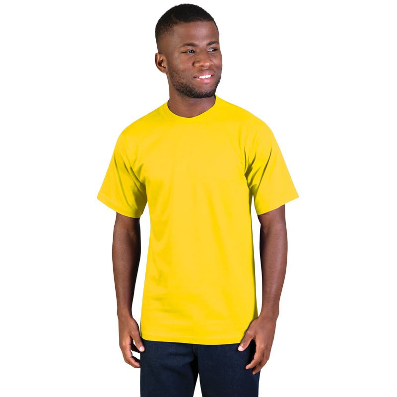150g Super Cotton Crew-neck T-shirts - Avail in: Yellow