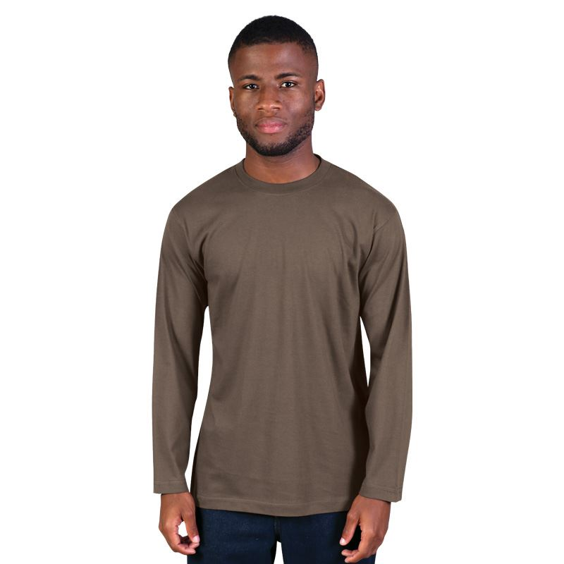 170g Combed Cotton Crew-neck Long-sleeve T-shirts - Avail in: Co