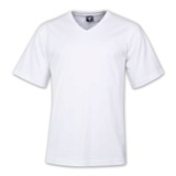 170g Combed Cotton Classic V-neck T-shirts - Avail in: White