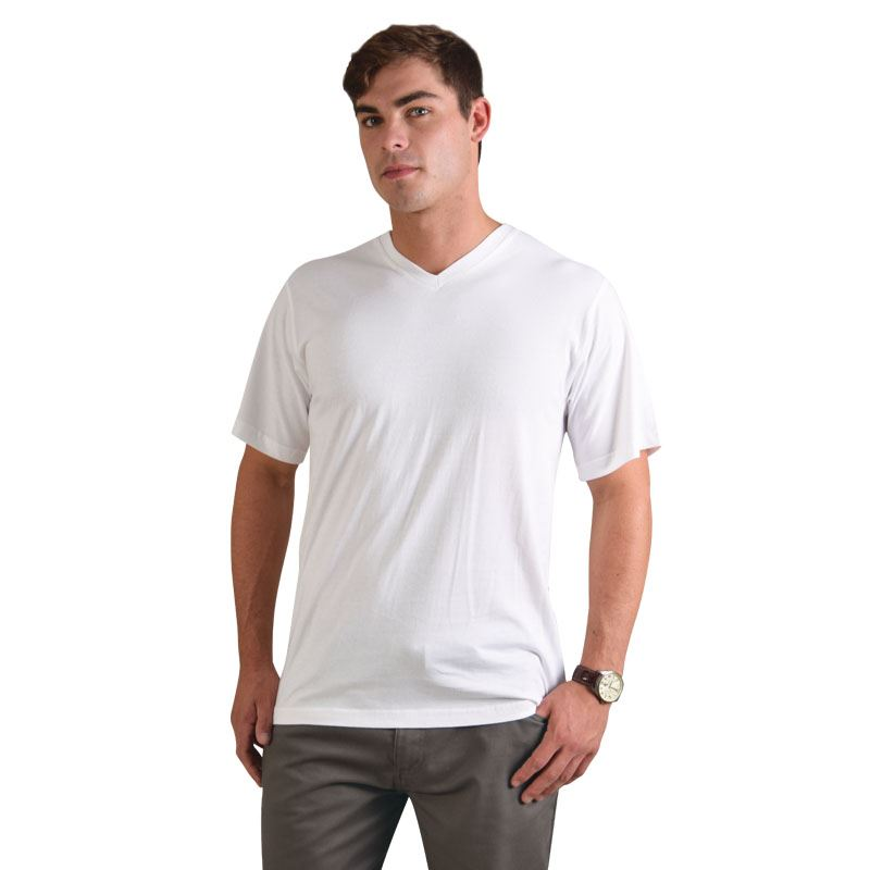 170g Combed Cotton Classic V-neck T-shirts - Avail in: Navy, Bla