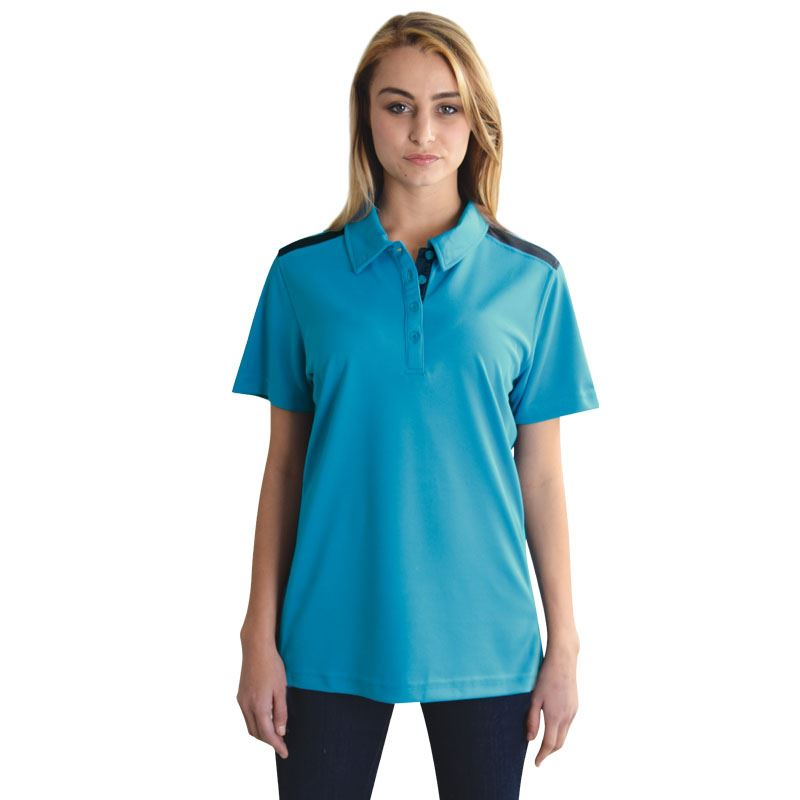 Ladies Vector Polo - Avail in: Graphite/Yellow, Electric Blue/Wh