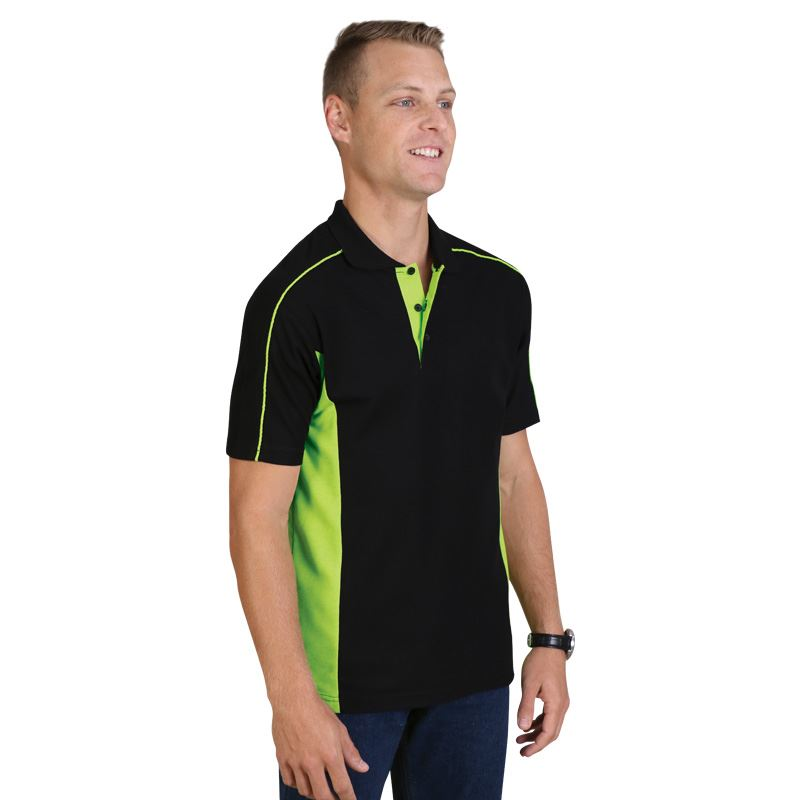 Stratus Polo - Avail in: Black/Lime, Black/Royal, Black/Red