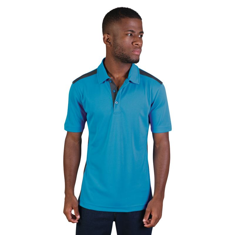 Vector Polo - Avail in: Electric Blue/White, Cyan/Graphite