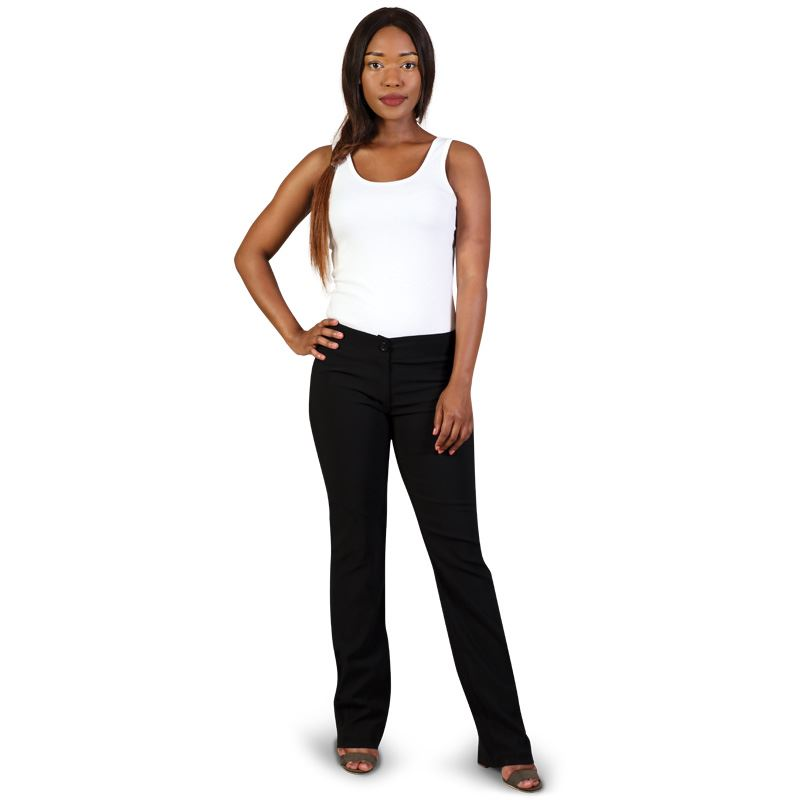 Ladies Bengaline Trousers - Avail in: Black