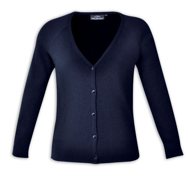 Ladies Classic Cardigan - Avail in: Navy, Black