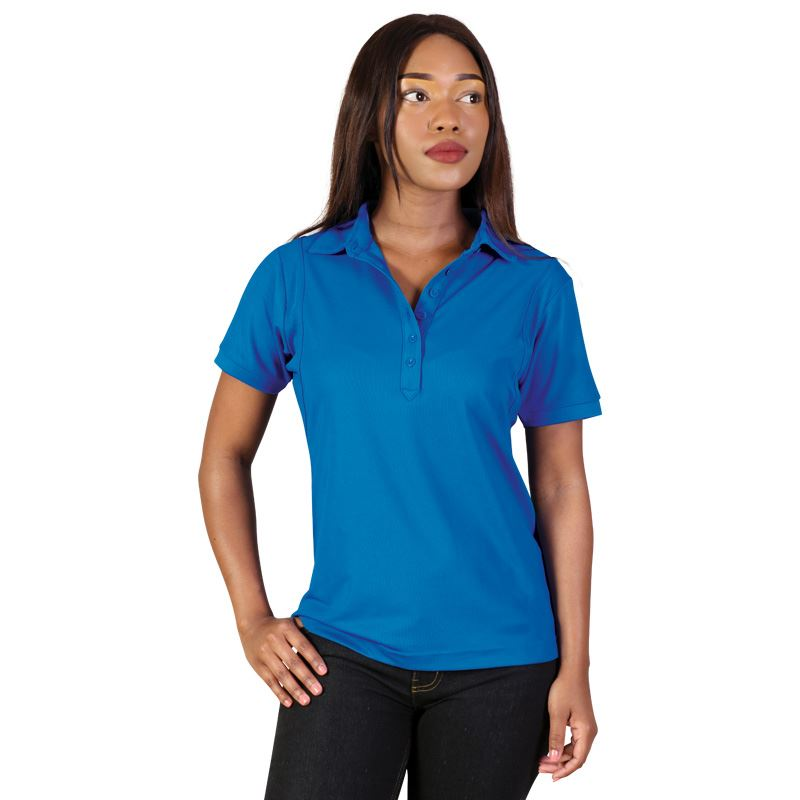 Ladies Jewel Polo - Avail in: Electric Blue, Signal Red, Blackto