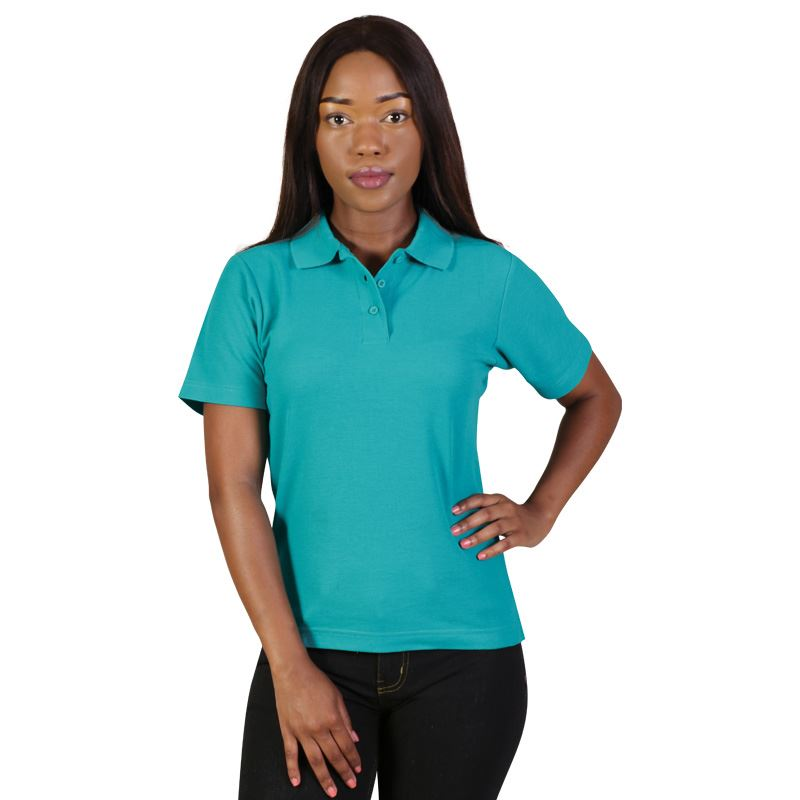 Ladies Classic Pique Knit Polo - Avail in: Black, White, Beige,