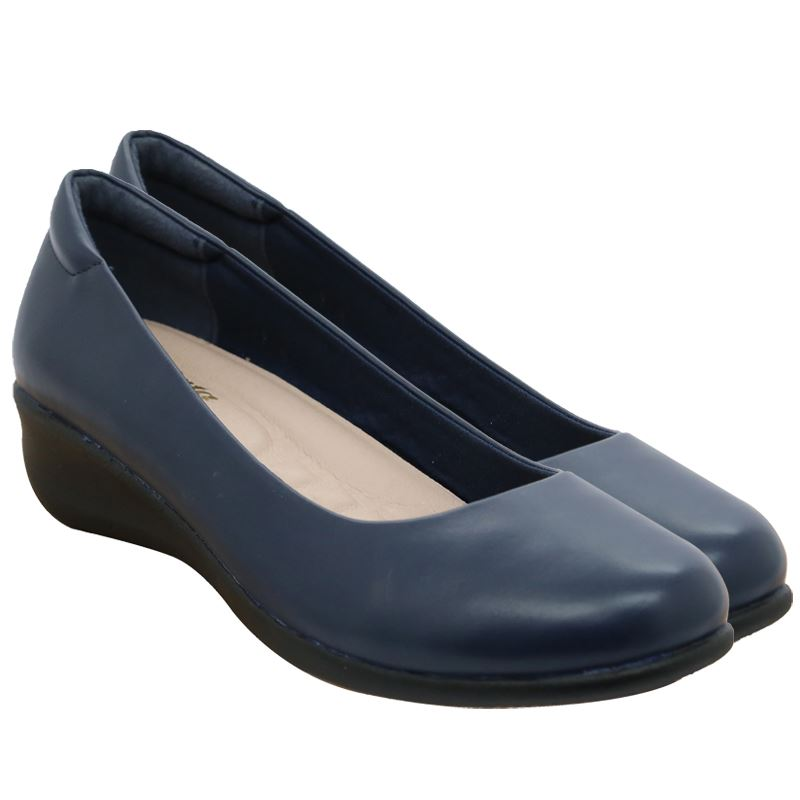 Bata Ladies Closed Slip On Pump - Avail in: Black, Navy