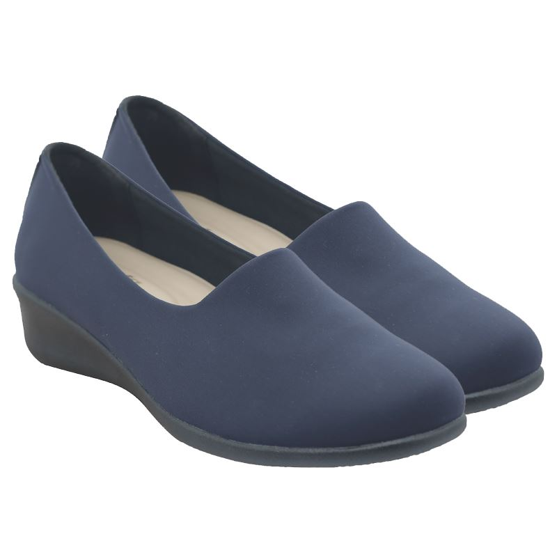Bata Ladies Closed Slip On Shoe - Avail in: Black, Navy