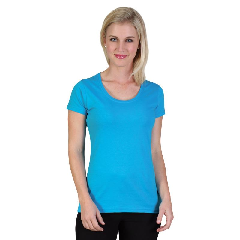 150g Ladies Fashion Fit T-Shirt - Avail in: Black, Elec. Blue, C