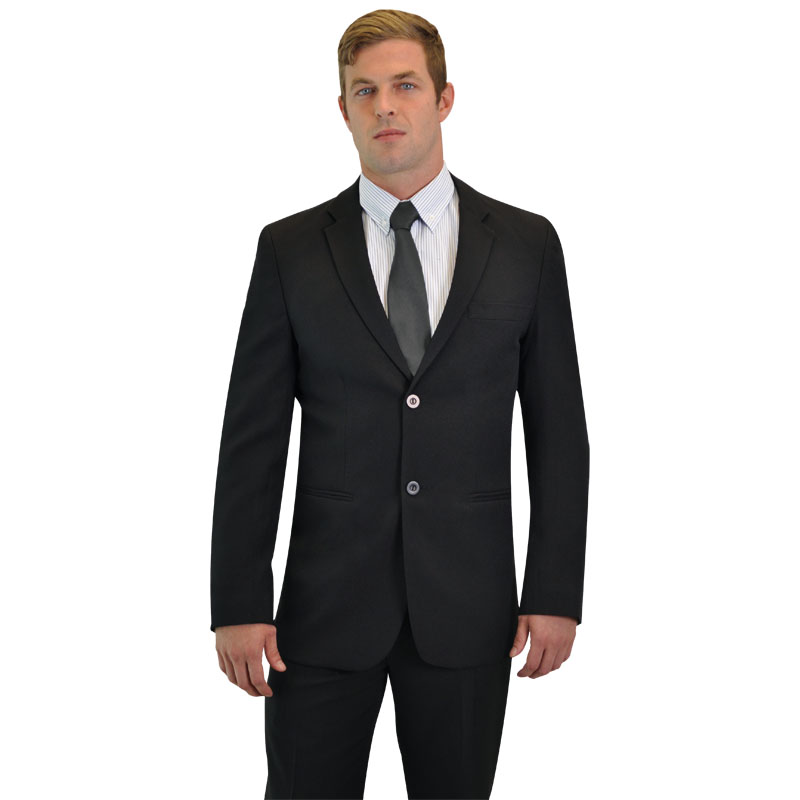 Peter Men&#39s Suit Jacket L/S - Avail in: Charcoal Melange
