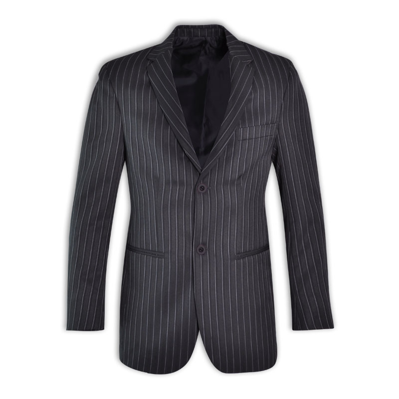 Peter Men&#39s Stripe Suit Jacket L/S - Avail in: Charcoal Strip