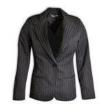 Rosa Stripe Jacket L/S - Avail in: Charcoal Stripe