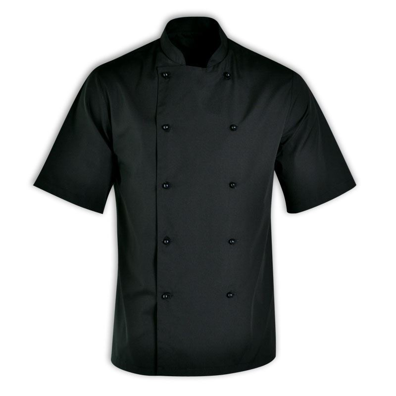 Stanley Unisex Chef Jacket Short Sleeve - Avail in: Black, white