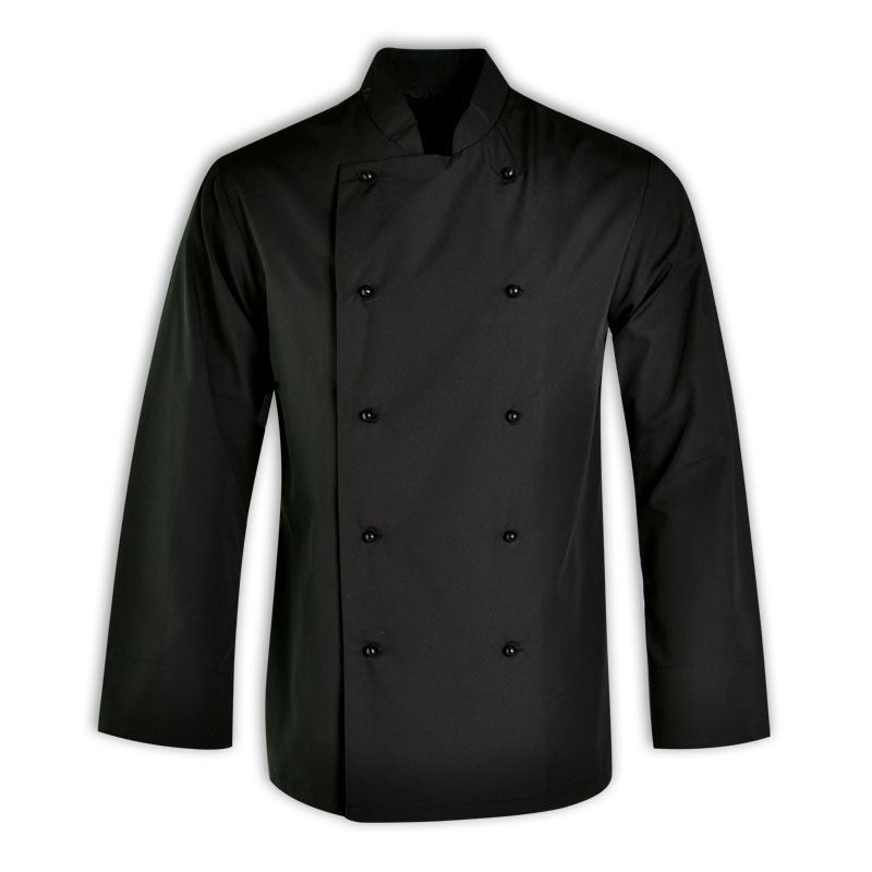 Stanley unisex chef top l/s - Avail in: Black, white