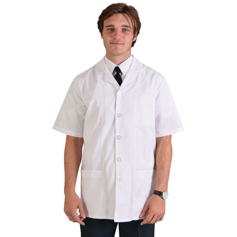 Tony Unisex Coat Short Sleeve - Avail in: White