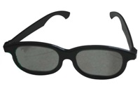 Circular Polarised 3D Glasses - Black Plastic Frame