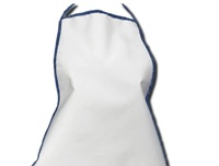 Apron With Denim Trim - Polyester