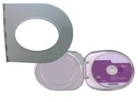 Slim Aluminium Cd Case With Printable Oval Metal Insert