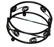Wrought Iron Coaster Rack - Round - Fits Glass Coasters