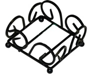 Wrought Iron Coaster Rack - Square - Fits All Square Coasters
