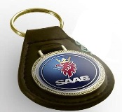 Pear Drop Leather Keyring (For Doming System)- Takes R25 Dome -